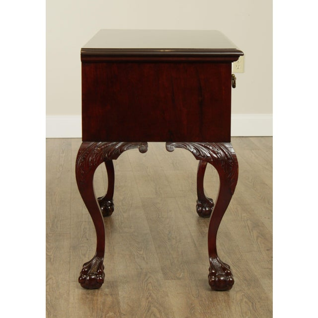 Victorian Era Chippendale Style Antique Carved Ball & Claw Vanity For Sale - Image 4 of 13