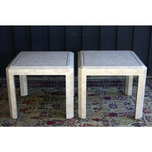Maitland - Smith Maitland Smith Tessellated Marble Tables, a Pair For Sale - Image 4 of 13