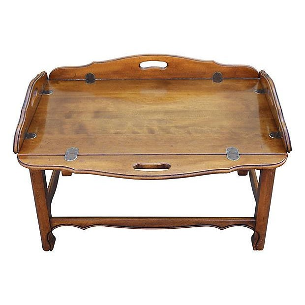 Norr11 Coffee Table Tray: Midcentury Modern Tray Top Coffee Table