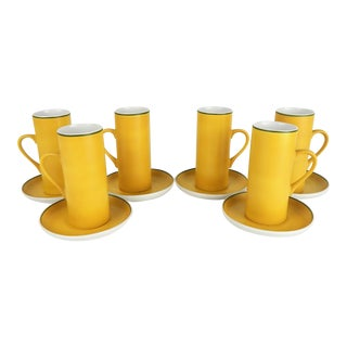 Schmid Porcelain Espresso Set, S/6 For Sale