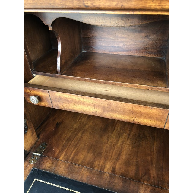 Mahogany 1980's Vintage National Mt. Airy Drop Front Chest Desk For Sale - Image 7 of 11