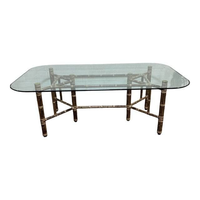 McGuire Bamboo Dining Table For Sale
