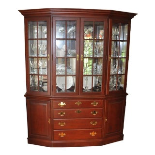Hitchcock Queen Anne Cherry China Cabinet For Sale