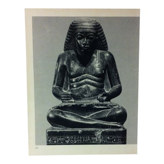 """Circa 1970 """"Amenhotpe - Son of Hapy"""" Xviiith Dynasty Great Sculpture of Ancient Egypt Print For Sale"""