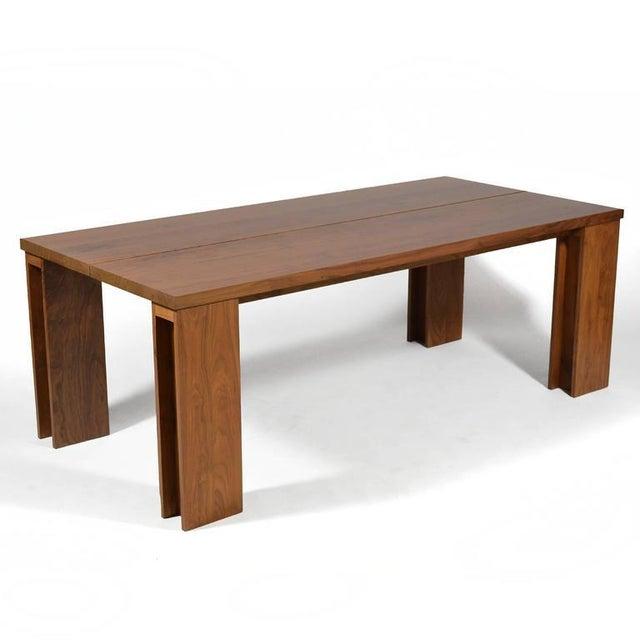 """Modern De La Espada """"Long"""" Table in Black Walnut For Sale - Image 3 of 11"""