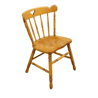 Tell City Hard Rock Maple Colonial Style Dining Side Chair For Sale