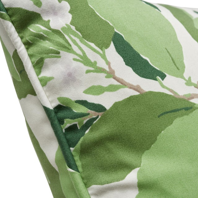 Contemporary Schumacher X Miles Redd Dogwood Leaf Pillow in Ivory For Sale - Image 3 of 5