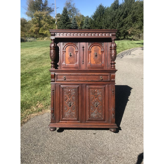 Art Nouveau Walnut Hutch by Berkey and Gay For Sale - Image 12 of 12