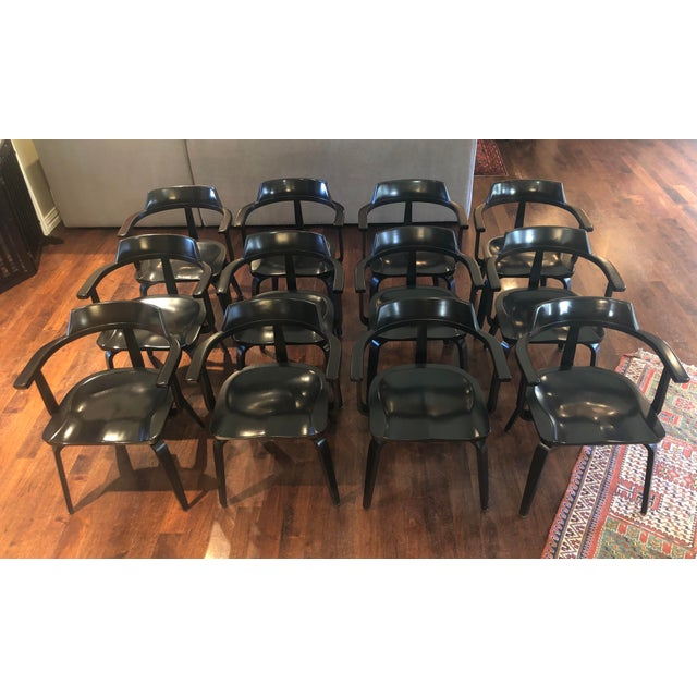 Black Mid-Century Modern W199 Chairs by Walter Gropius for Thonet Bauhaus - Set of 12 For Sale - Image 8 of 8