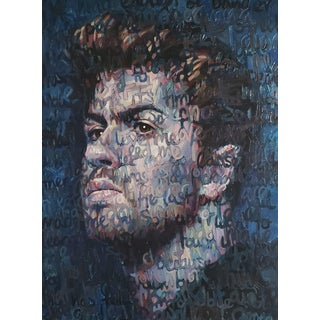 Large Oil on Canvas Titled: George Michael For Sale