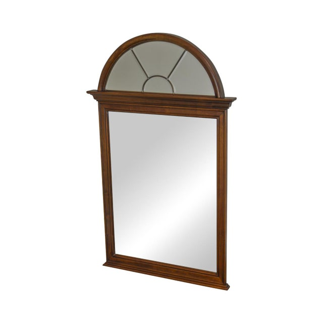 Lexington Cherry Arch Top Beveled Mirror For Sale - Image 13 of 13
