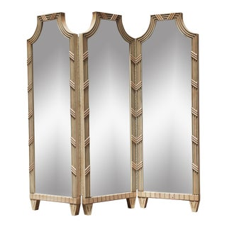 Vintage Large Mirrored Pagoda Screen / Room Divider / Would Be Cool Headboard