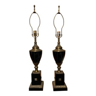 1960s Edwardian Style Urn Table Lamps - a Pair For Sale