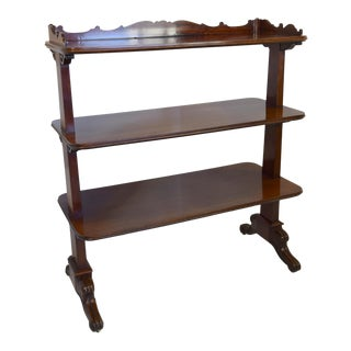 19th-Century William IV Mahogany Buffet/Trolley For Sale