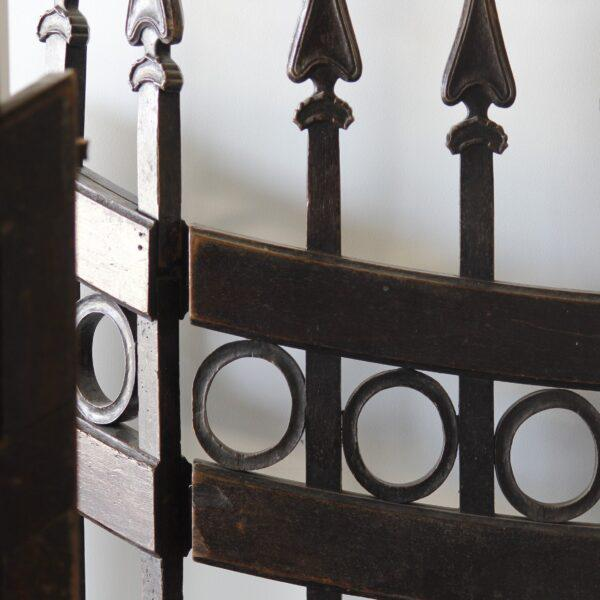 Traditional Mid 18th Century Wood Stable Gates - A Pair For Sale - Image 3 of 6