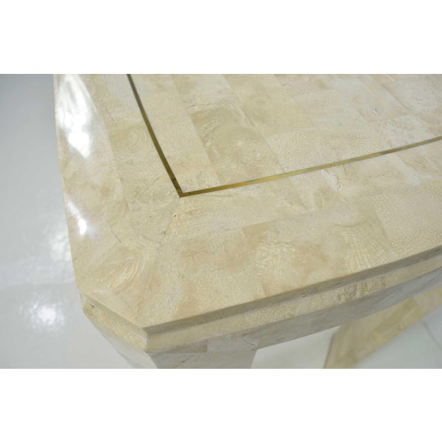 Maitland - Smith Maitland-Smith Tessellated Marble Console with Brass Inlay For Sale - Image 4 of 7