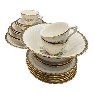 Royal China Quban Royal Dinnerware - 22 Pieces For Sale