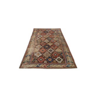 Antique Persian Caucasian Shirvan Knotted Rug - 4′4″ × 7′7″ - Size Cat. 5x7 5x8 For Sale