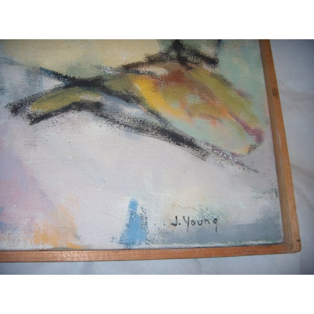 Signed 1961 Jean Young Abstract Painting - Image 8 of 11