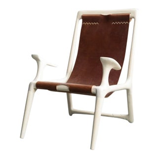 Mid-Century Modern Fernweh Woodworking Sling Side Chair For Sale