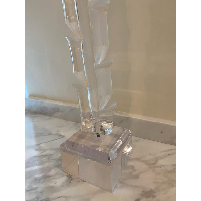 Contemporary Vintage 1970s Lucite Sculpture on Stand For Sale - Image 3 of 7
