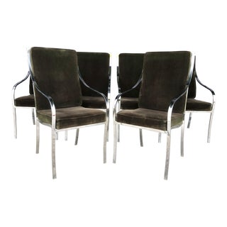 Vintage Chrome Pierre Cardin Style Dining Chairs- Set of 6