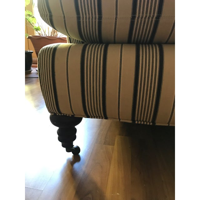 Crate & Barrel Striped Fabric Sofa - Image 5 of 6