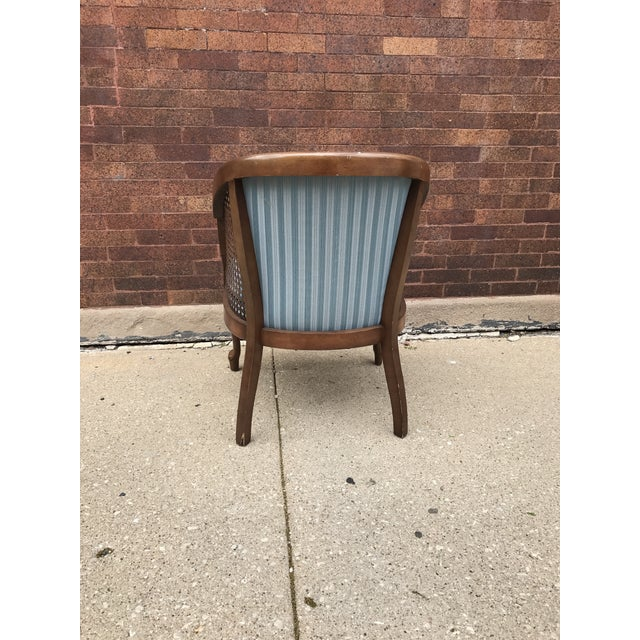 Vintage Cane Barrel Chairs - A Pair For Sale - Image 4 of 5