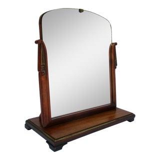 Vintage Neoclassical Table Top Vanity Mirror For Sale