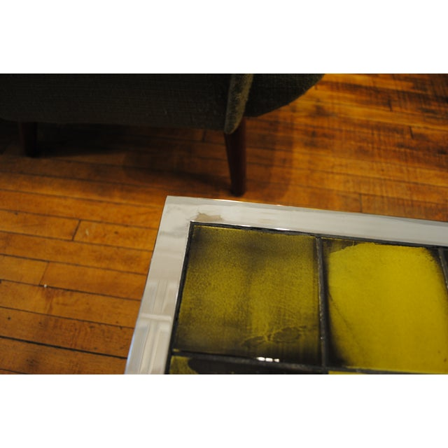 Tile and Chrome Danish Modern Coffee Table - Image 8 of 8