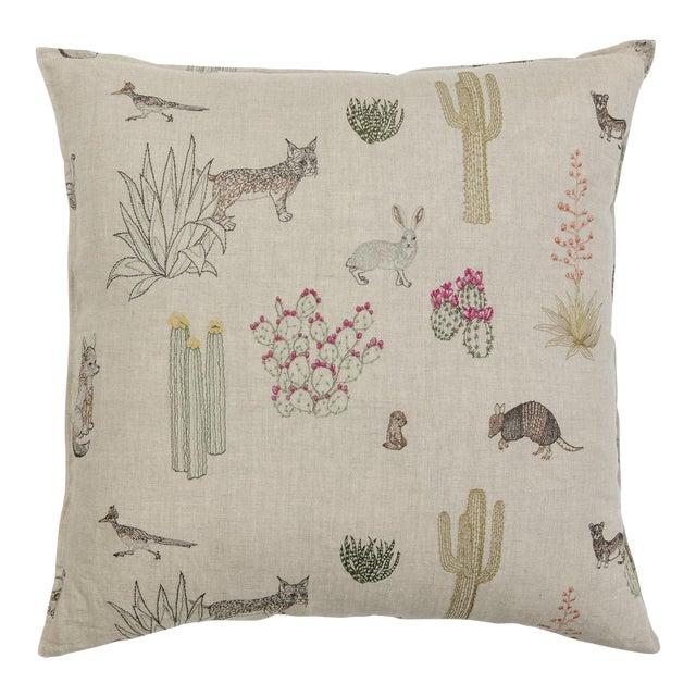Saguaro Desert Friends Pillow For Sale
