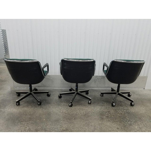 3 1980's vintage knoll charles pollack cloth office chairs sold as found in vintage condition previosuly used in original...