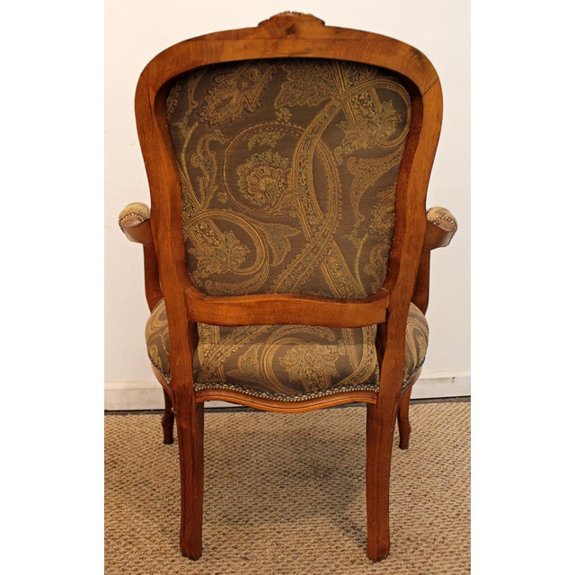 Vintage French Carved Ladies Fauteuil Arm Chair - Image 7 of 11