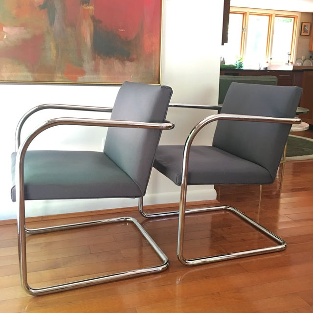 Mies Van der Rohe Mies Van Der Rohe for Thonet Brno Chairs - a Pair For Sale - Image 4 of 13