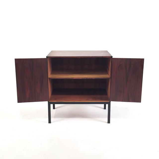 Vintage Danish Rosewood Cabinet For Sale - Image 4 of 5