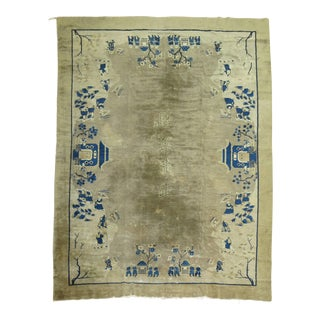 Antique Chinese Pictorial Rug, 9' X 11'6''