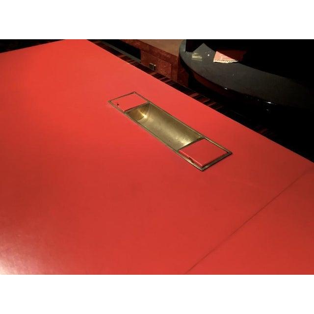 1950s Jacques Adnet Rarest 40s Documented Makassar Desk For Sale - Image 5 of 7