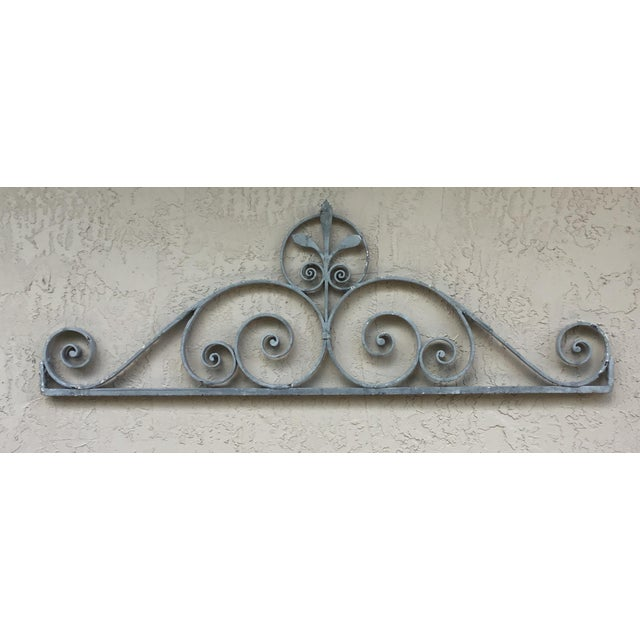 Asian 1950s Asian Wrought Iron Wall Hanging For Sale - Image 3 of 13