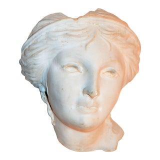 1990s Vintage Figurative Artist Roman Plaster Bust Sculpture For Sale