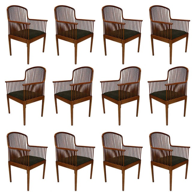 Set Of 6 Stunning Davis Allen For Knoll Exeter Spindle Dining Or Office Chairs