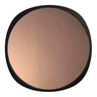 Contemporary Black Frame Peach Fade Mirror For Sale