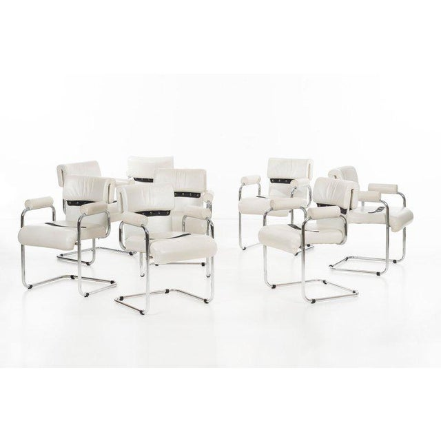 Mariani Set of 8 Dining Chairs For Sale - Image 10 of 11