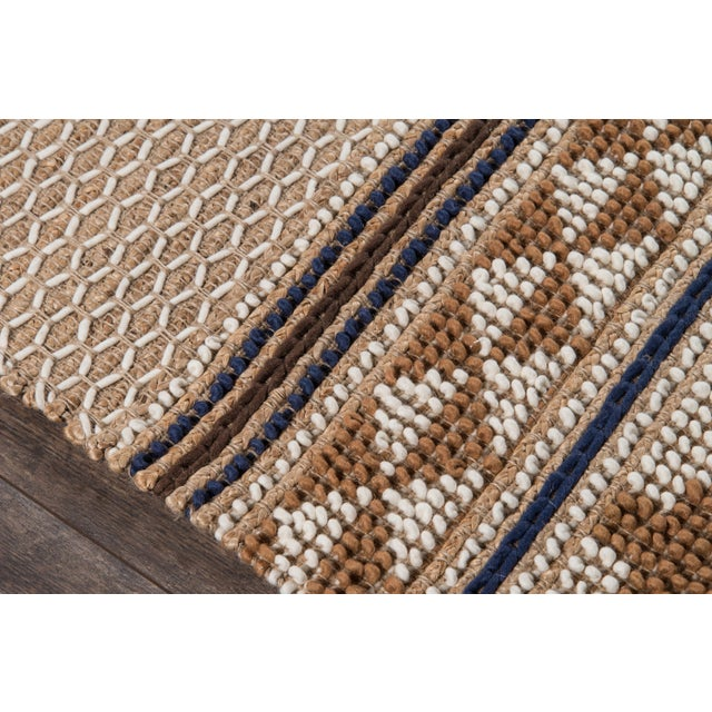 """Transitional Esme Ivory Hand Woven Area Rug 2'3"""" X 7'6"""" Runner For Sale - Image 3 of 7"""