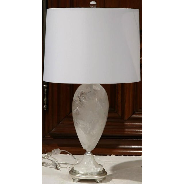 Traditional Brazilian Rock Crystal Urns Table Lamps - A Pair For Sale - Image 3 of 10