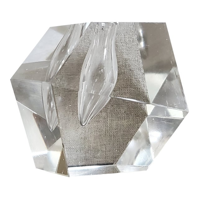 Geometric Crystal Pen Holder Paperweight For Sale