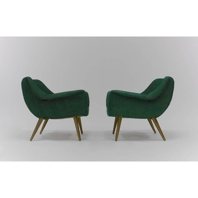 1950s Pair of Sculptural Lounge Chairs by Lawrence Peabody for Selig For Sale - Image 5 of 9
