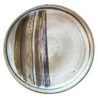 Mid-Century Studio Pottery Platter Plate Signed