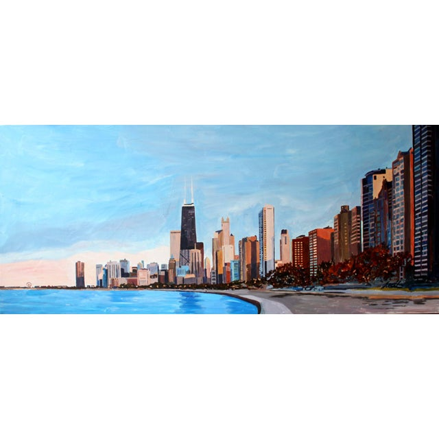 Realism Lakeshore Drive Painting Giclee Print by Josh Moulton For Sale - Image 3 of 3