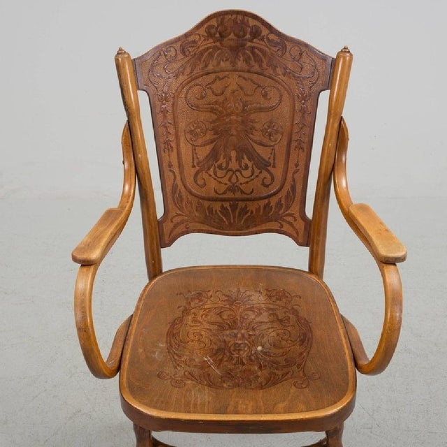 Jacob & Josef Kohn Pair of Vienna Secession Armchair by Jakob & Josef Kohn, 1900s For Sale - Image 4 of 6