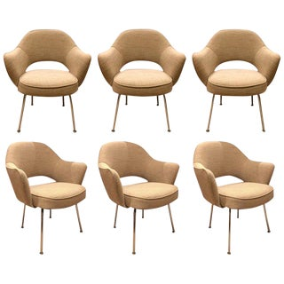 Eero Saarinen for Knoll Dining Armchairs - Set of 6 For Sale